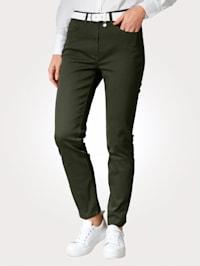 Nohavice s čiastočne elastickou pásovkou od veľ. 44