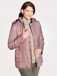 Prešívaná bunda s odnímateľnou kapucňou