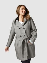 Mantel met bindceintuur