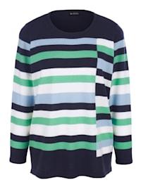Pullover rundum mit Streifenmuster