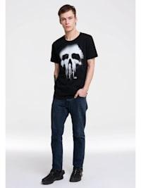 T-Shirt Punisher Marvel mit lässigem Siebdruck