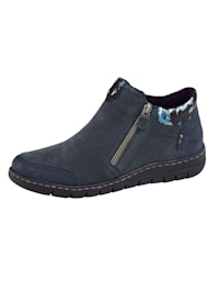 Ankle boots with elasticated inserts