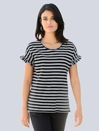 Shirt mit angesetzem Volant