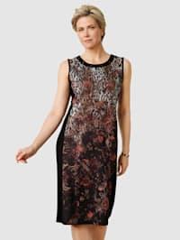 Jerseykleid mit Plättchenzier am Ausschnitt