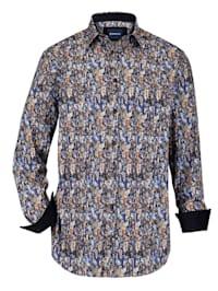 Skjorte med besetning i kordfløyel