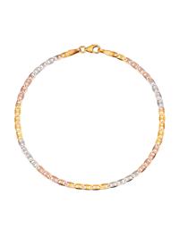 Stegpanzerarmband in Gelbgold 375