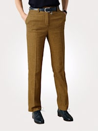 Trousers made from a wool-blend fabric