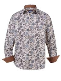 Chemise avec empiècements mode aux coudes