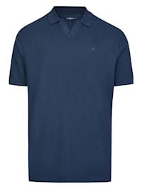 Strukturstrick Polo-Shirt