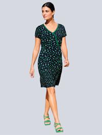 Jersey jurk met stippendessinmix