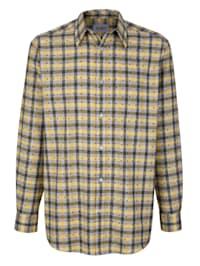 Overhemd met gedessineerde details