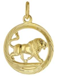 Sternzeichen Löwe 333 Gold Anhänger Ø 16 mm