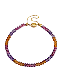 Bracelet avec pierres de couleur