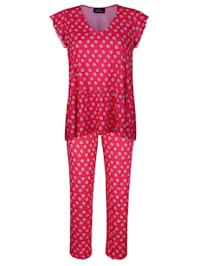 Pyjama avec manches à jolies finitions ondulées