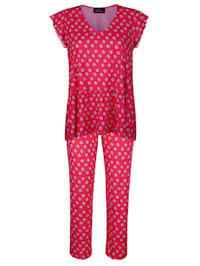Pyjama met schattige geschulpte zoom