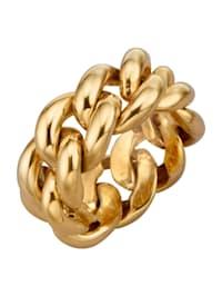 Ketten-Ring in Silber 925, vergoldet