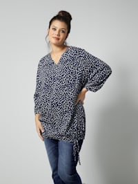 Tunika-Bluse allover gepunktet