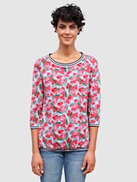 Shirt met zomers meloenendessin