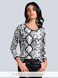 Shirt im exklusiven Dessin von Alba Moda