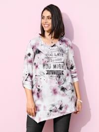 T-shirt à pointes à imprimé floral