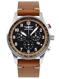 Herrenuhr Chronograph F13 Tempelhof Cognac/Schwarz