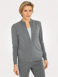 Cardigan with contrast striped panels