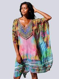 Tuniek met multicolor dessin