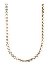 Halsband i gult och vitt guld 9 k