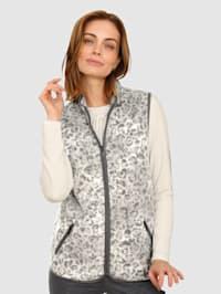 Fleece bodywarmer met contrastkleurige details