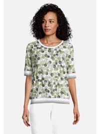 Halbarm-Shirt mit Rippbündchen