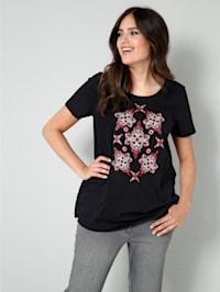 Shirt met mooie motiefprint