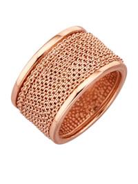 Damenring in Silber 925, rosé vergoldet