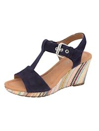 Sandaletter med reglerbar T-vristrem