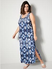 Kleid mit Seitenschlitzen am Saum