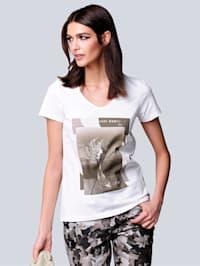 Shirt mit exklusivem Motiv-Print von Alba Moda