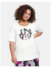T-Shirt mit Glitzer-Print aus Bio-Baumwolle