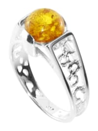 Ring - Kiruna - Silber 925/000 - Bernstein