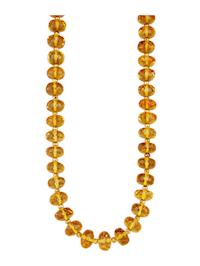 Halskette aus gelben Naturbernstein-Rondellen