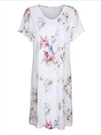 Nachthemd mit romantischen Rüschen an den Ärmeln