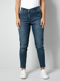Jeans mit seitlichem Galonstreifen
