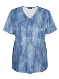 Shirt mit Jeansdruck