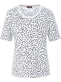 T-Shirt mit getupftem Allover-Muster
