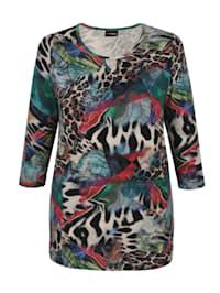 Shirt met modieus patroon rondom