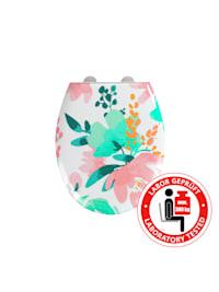 Premium WC-Sitz Flowery, Duroplast, mit Absenkautomatik
