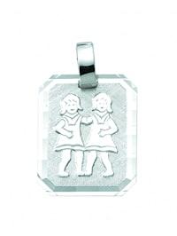 Damen & Herren Silberschmuck 925 Silber Sternzeichen Anhänger Zwilling