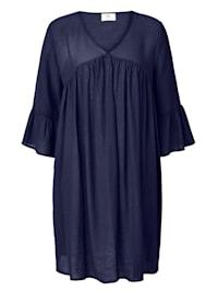 Kleid Fließende Viskose Qualität mit leichtem Crinkle-Effekt