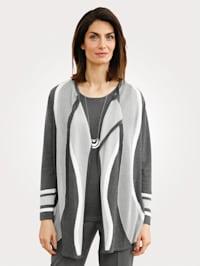 Cardigan in an intarsia knit