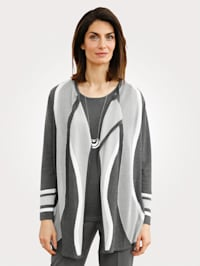 Gilet maille en maille intarsia