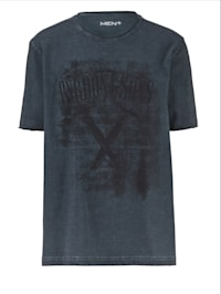 T-Shirt in Oil Washed Optik