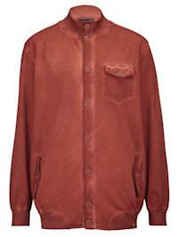 Veste molletonnée à effet oil dyed